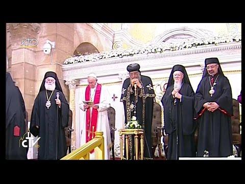 Prière oecuménique avec le Pape François en Egypte