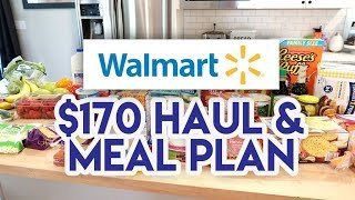 $170 WALMART GROCERY HAUL AND MEAL PLAN 🛒 LOTS OF QUICK MEALS THIS WEEK! 😁 JEN CHAPIN