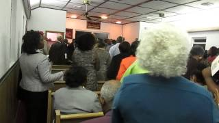 """Elder G Meadows singing """"He'll wash you whiter than Snow"""" at the Ephesus Association 2014."""