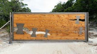 Building A 14 Custom Metal/Wood Gate
