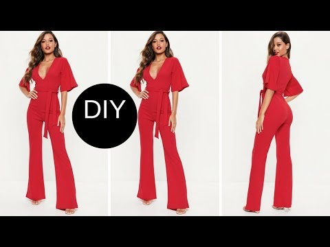 HOW TO MAKE JUMPSUIT - EASY SEWING - BEGINNER SEWING