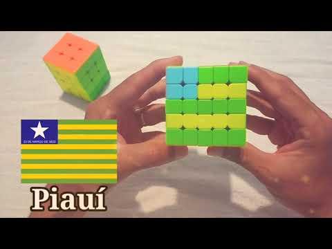 Bandeira do estado do Piau no Cubo Mgico 5x5x5 e tambm no 3x3x3