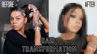 MY NEW HAIR | HAIR TRANSFORMATION AT HOME
