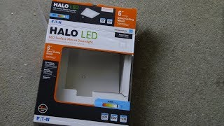 Halo 6 inch LED Square Down light install