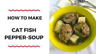 HOW TO MAKE CATFISH PEPPER-SOUP – PEPPER-SOUP RECIPES – ZEELICIOUS FOODS