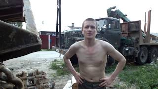 Урал Лесовоз Ямз-238 Запуск после 7 месяцев ремонта Всё пучком...