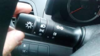 Как включить ближний свет фар в Hyundai Solaris (Хендай Солярис)?