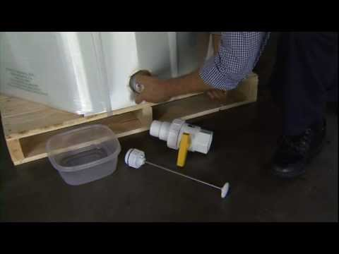 Disposable Liquid Tote EZ-BULK 48x40 Flush Evacuation w/Plunger Cutter