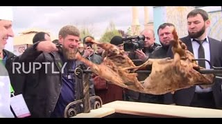 Russia: Kadyrov enjoys a spit-roast at Chechnya