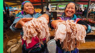 Asia's MOST ISOLATED Market!! Rare Mountain Hmong Food!!   TRIBAL VIETNAM EP6
