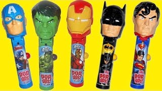 Nat And Essie Open Superhero Lollipop Ups Candy Dispensers
