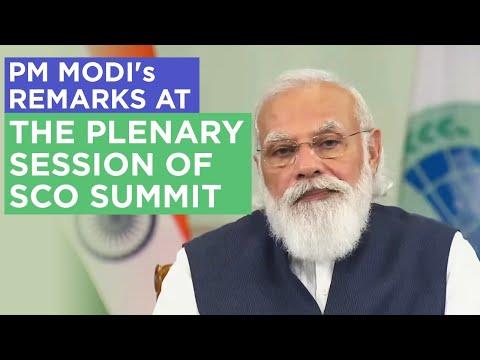 PM Modi's remarks at the plenary session of SCO Summit