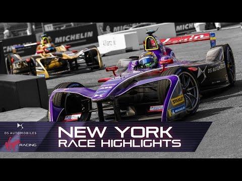 Formula E New York City E-Prix Race Highlights! (DS Virgin Racing S4 R11)