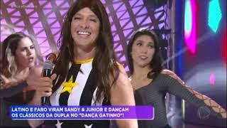 Rodrigo Faro E Latino Viram Sandy & Junior No Dança Gatinho