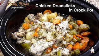How To Cook Chicken Drumsticks In Crock Pot | Chicken Drumsticks In Slow Cooker