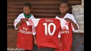 Star player Mesut Ozil gifts Kenyan herdboy with merchandise
