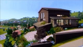 The Sims 3 - Modern cliff house