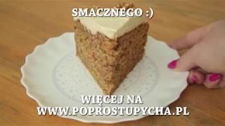 Ciasto marchewkowe z kremem, orzechami i kawą cynamonową - Po Prostu Pycha