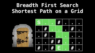 Breadth First Search Grid Shortest Path | Graph Theory