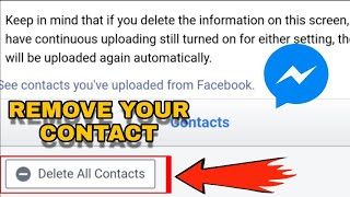 How to remove contact from messenger