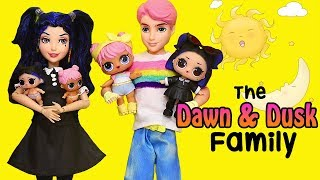 LOL Families ! The Dawn & Dusk Family Wacky Day ! Toys and Dolls Fun for Kids | SWTAD