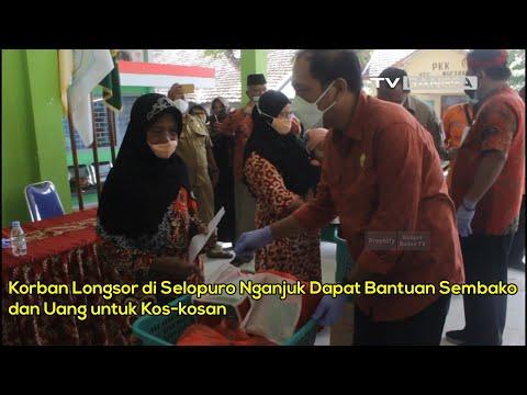 Korban Longsor di Selopuro Nganjuk Dapat Bantuan Sembako dan Uang untuk Kos-kosan