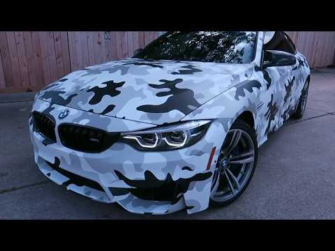 F82 M4 Fully wrapped Camouflage wrap