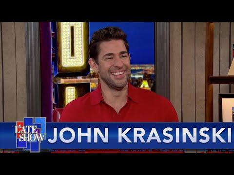 John Krasinski Takes The Colbert Questionert