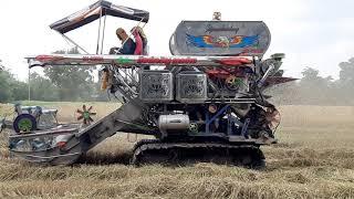รถเกี่ยว ศิษย์เจริญการช่าง เลสทั้งคัน บุกบุรีรัมย์ jo8c bo combine harvesters EP.5825