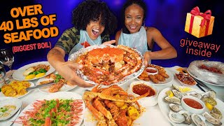 WHOLE KING CRAB, LOBSTER, DUNGENESS + MORE SEAFOOD BOIL MUKBANG AT SUP CRAB NYC RESTAURANT