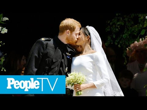 See Prince Harry And Meghan Markle's First Kiss As Husband And Wife | PeopleTV
