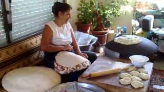 preview picture of video 'Ain-Ebal South Lebanon Arabic bread making'