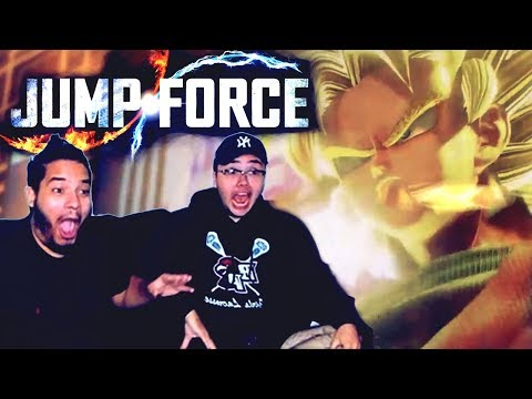 THIS GAME IS AMAZING!!! Jump Force Official Trailer Reaction E3 2018