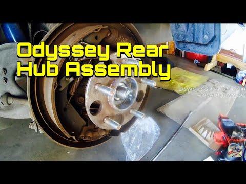 Rear Hub Assembly Honda Odyssey - Wheel Bearing Replacement - Bearing Noise - Bundys Garage