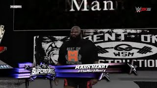 WWE 2K15 Entrances: Mark Henry, Rob Van Dam, Adrian Neville - Next Gen [HD]