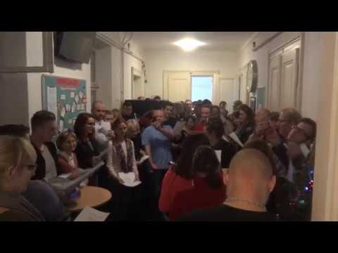 Vánoční zpívání se studenty 2017