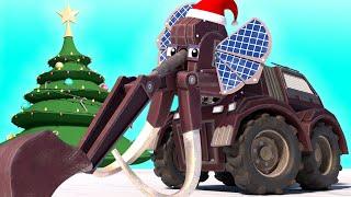 Truck videos for kids - The frozen MAMMUTH - DINOSAUR CHRISTMAS CARTOON - AnimaCars