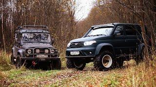 Установка колес M-TRIM на УАЗ-ПАТРИОТ от тюнинг-ателье Галагрин.