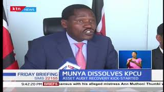 CS Peter Munya dissolves KPCU
