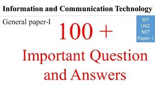 MCQ Information and communication Technology Solved Old Qurstion paper for SET/NTA NET.