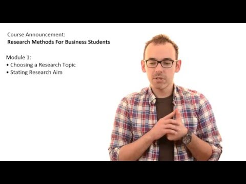 Research Methods For Business Students | Course Announcement ...
