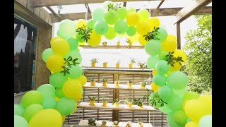 Youtube thumbnail for How to make a balloon garland