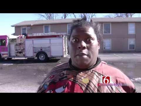 Intervista a donna che racconta di incendio diventa virale