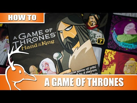 Game of Thrones: Hand of the King - Set up & Play - (Quackalope How To)
