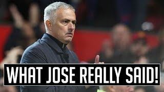 WHAT MOURINHO ACTUALLY SAID (CONTAINS SWEARING)