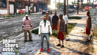 GTA 5 REAL LIFE CJ MOD #145 - DAVIS TAKE OVER!!!(GTA 5 REAL LIFE MODS) 720S 4K