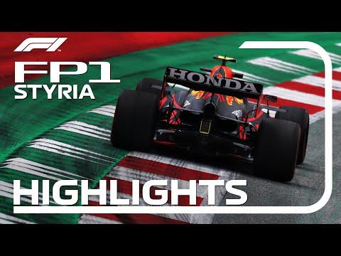 F1第8戦オーストリアGPのFP1ハイライト動画