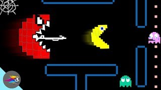 Red Monster Pacman Spider Vs Pacman Ghosts Face-Off Part 1