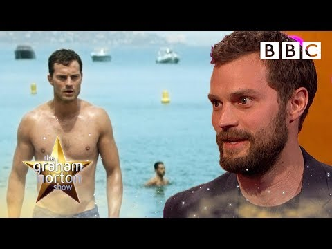 Jamie Dornan struggled to look sexy when walking on a pebble beach  - The Graham Norton Show