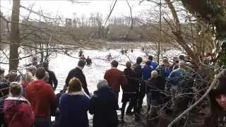 preview picture of video 'Ashbourne Royal Shrovetide Football 2014 - ends up in the middle of Ashbourne Pond again.'